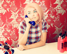 quirky do - on the phone